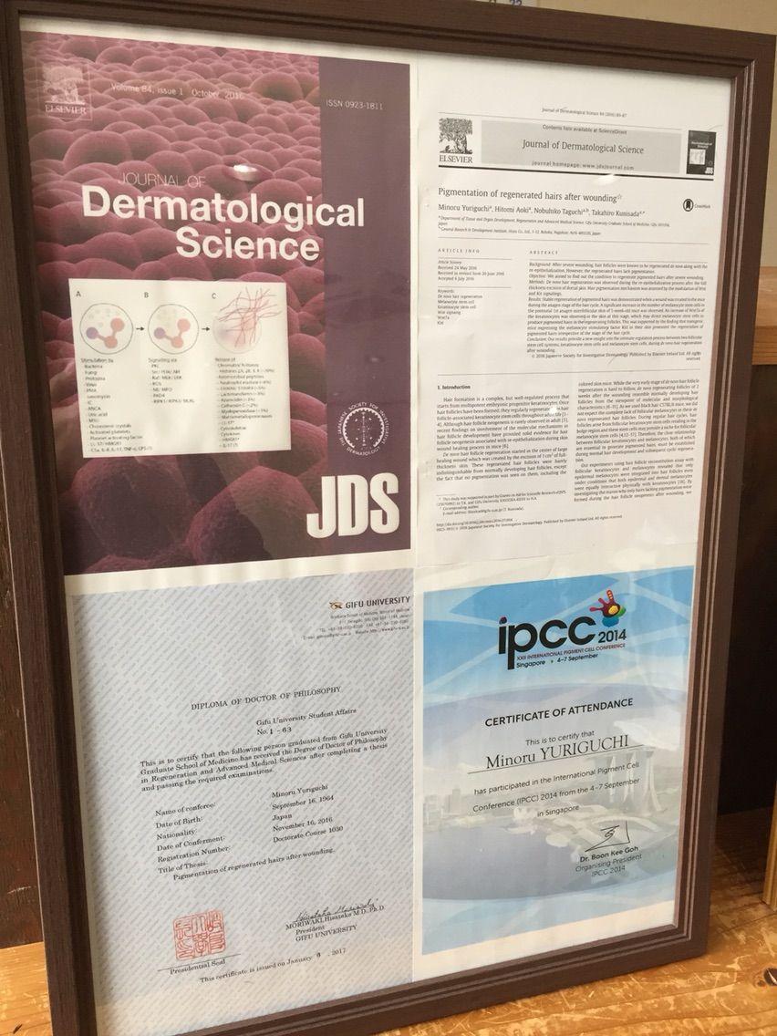 論文をJournal of Dermatological Scienceに公開中