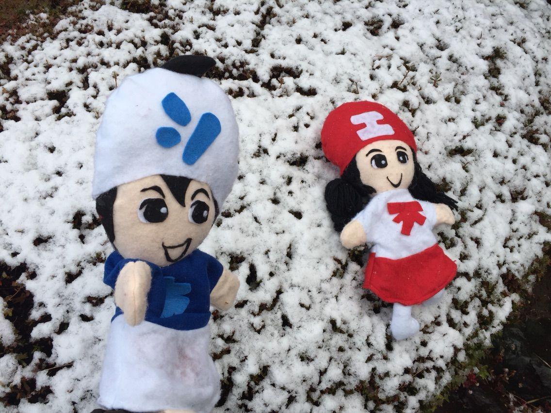 江南市は今日、初雪、初積雪!???