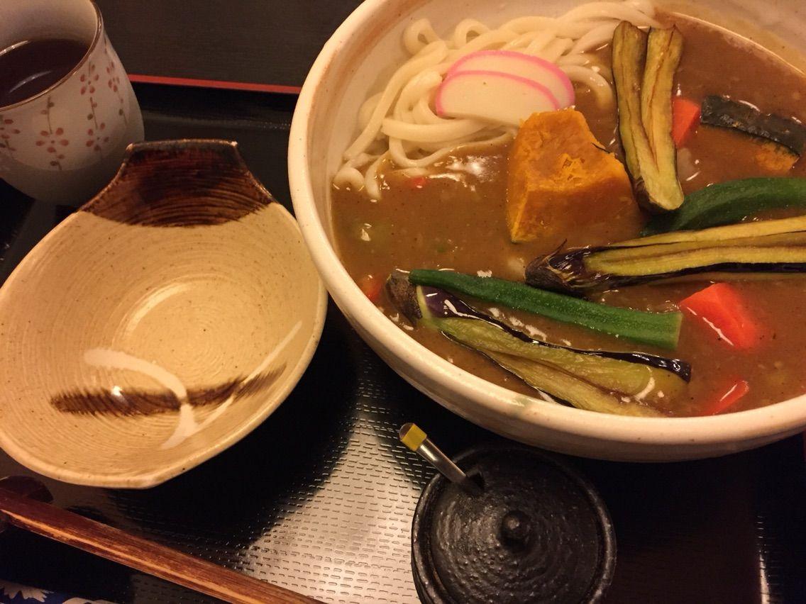 野菜たっぷりカレーうどん1,050円(利休)