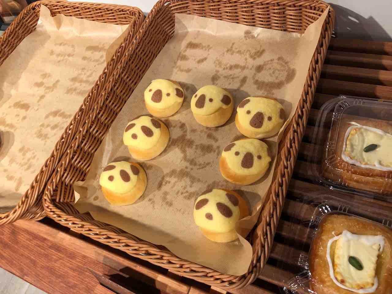 『good bakery 伊せ屋』パンダやコアラのパン