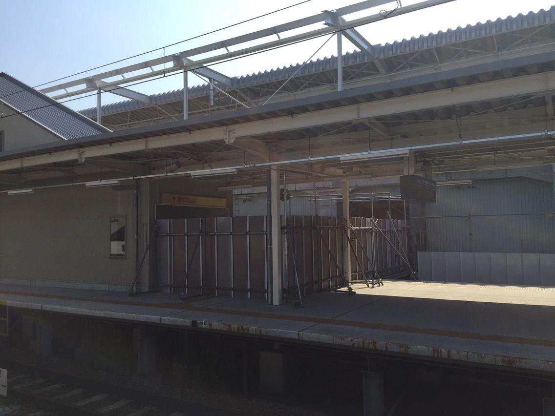 布袋駅高架仮設の連絡通路