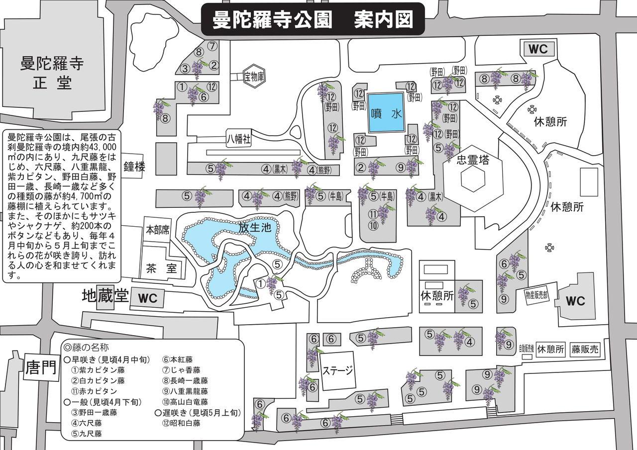 曼陀羅寺公園藤棚説明図