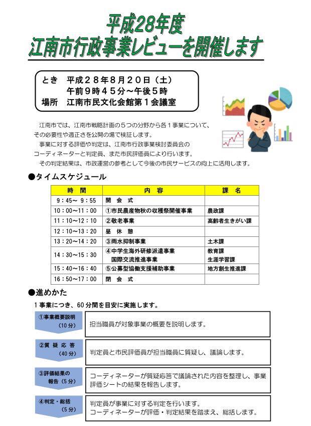 江南市行政事業レビュー